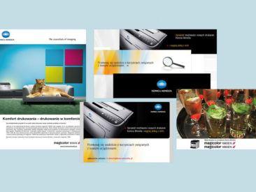 Our work konica minolta 01 STUDIO FORM | Advertising Agency Warsaw